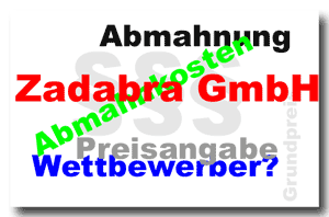 Abmahnung Zadabra GmbH